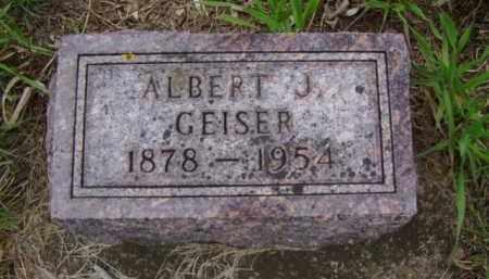 GEISER, ALBERT J. - Minnehaha County, South Dakota | ALBERT J. GEISER - South Dakota Gravestone Photos