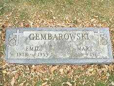 GEMBAROWSKI, EMIL - Minnehaha County, South Dakota | EMIL GEMBAROWSKI - South Dakota Gravestone Photos