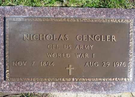 GENGLER, NICHOLAS (WWI) - Minnehaha County, South Dakota | NICHOLAS (WWI) GENGLER - South Dakota Gravestone Photos