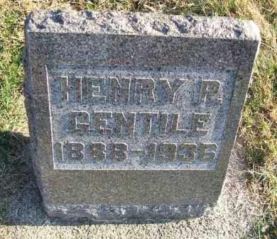 GENTILE, HENRY P. - Minnehaha County, South Dakota | HENRY P. GENTILE - South Dakota Gravestone Photos