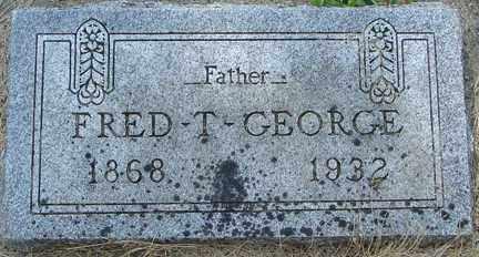 GEORGE, FRED T. - Minnehaha County, South Dakota | FRED T. GEORGE - South Dakota Gravestone Photos