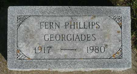 PHILLIPS GEORGIADES, FERN - Minnehaha County, South Dakota | FERN PHILLIPS GEORGIADES - South Dakota Gravestone Photos