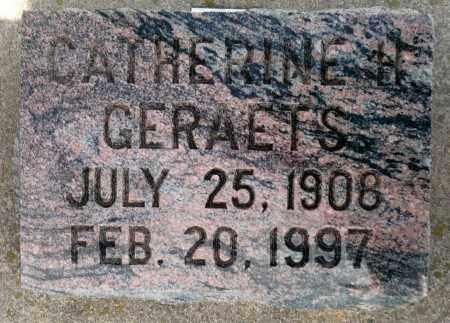 "GERAETS, CATHERINE ""KAY"" H. - Minnehaha County, South Dakota | CATHERINE ""KAY"" H. GERAETS - South Dakota Gravestone Photos"