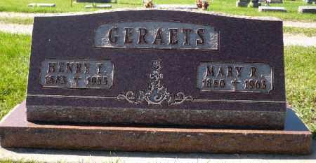 GERAETS, MARY - Minnehaha County, South Dakota   MARY GERAETS - South Dakota Gravestone Photos
