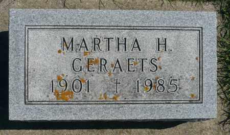 GERAETS, MARTHA H. - Minnehaha County, South Dakota | MARTHA H. GERAETS - South Dakota Gravestone Photos