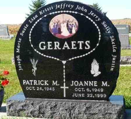 SCHOLTEN GERAETS, JOANNE M. - Minnehaha County, South Dakota | JOANNE M. SCHOLTEN GERAETS - South Dakota Gravestone Photos