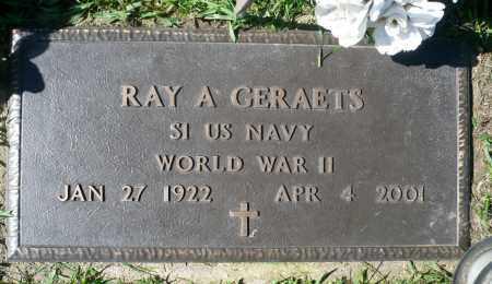 GERAETS, RAYMOND ANTHONY (WWII) - Minnehaha County, South Dakota | RAYMOND ANTHONY (WWII) GERAETS - South Dakota Gravestone Photos