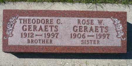 GERAETS, ROSE W. - Minnehaha County, South Dakota | ROSE W. GERAETS - South Dakota Gravestone Photos