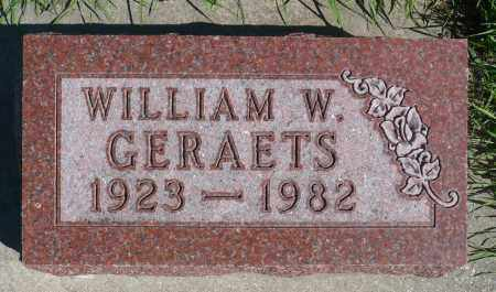 GERAETS, WILLIAM W. - Minnehaha County, South Dakota | WILLIAM W. GERAETS - South Dakota Gravestone Photos