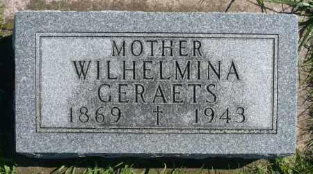 GERAETS, WILHELMINA - Minnehaha County, South Dakota | WILHELMINA GERAETS - South Dakota Gravestone Photos