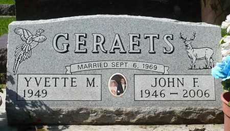 GERAETS, JOHN F. - Minnehaha County, South Dakota | JOHN F. GERAETS - South Dakota Gravestone Photos