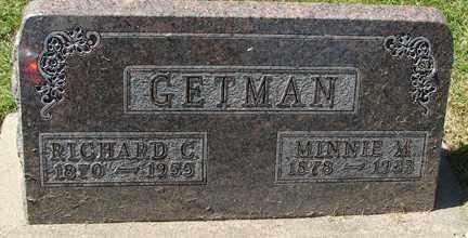 GETMAN, RICHARD C. - Minnehaha County, South Dakota   RICHARD C. GETMAN - South Dakota Gravestone Photos