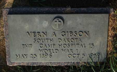 GIBSON, VERN A. (WW I) - Minnehaha County, South Dakota | VERN A. (WW I) GIBSON - South Dakota Gravestone Photos