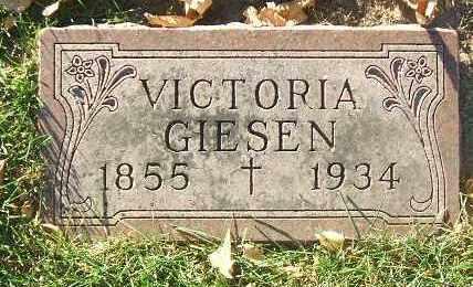GIESEN, VICTORIA - Minnehaha County, South Dakota | VICTORIA GIESEN - South Dakota Gravestone Photos