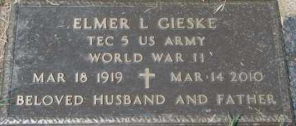 GIESKE, ELMER L. (WWII) - Minnehaha County, South Dakota | ELMER L. (WWII) GIESKE - South Dakota Gravestone Photos