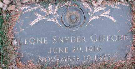 SNYDER GIFFORD, LEONE - Minnehaha County, South Dakota | LEONE SNYDER GIFFORD - South Dakota Gravestone Photos