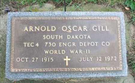 GILL, ARNOLD OSCAR - Minnehaha County, South Dakota   ARNOLD OSCAR GILL - South Dakota Gravestone Photos