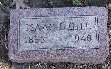 GILL, ISAAC L. - Minnehaha County, South Dakota   ISAAC L. GILL - South Dakota Gravestone Photos