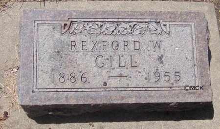 GILL, REXFORD W. - Minnehaha County, South Dakota | REXFORD W. GILL - South Dakota Gravestone Photos