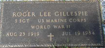 GILLESPIE, ROGER LEE (WWII) - Minnehaha County, South Dakota   ROGER LEE (WWII) GILLESPIE - South Dakota Gravestone Photos