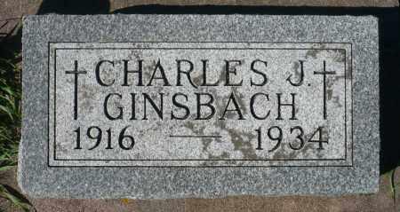 GINSBACH, CHARLES J. - Minnehaha County, South Dakota | CHARLES J. GINSBACH - South Dakota Gravestone Photos