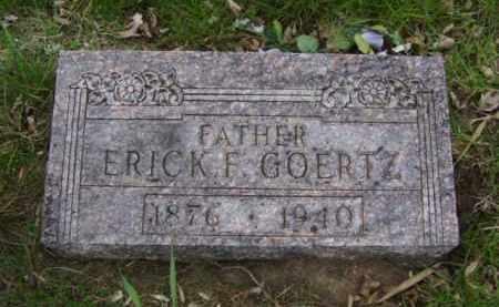GOERTZ, ERICK  F. - Minnehaha County, South Dakota   ERICK  F. GOERTZ - South Dakota Gravestone Photos