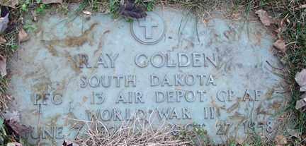 GOLDEN, RAY (WWII) - Minnehaha County, South Dakota | RAY (WWII) GOLDEN - South Dakota Gravestone Photos