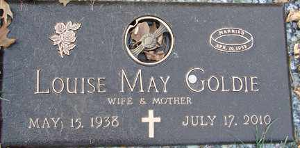 BROOKS GOLDIE, LOUISE MAY - Minnehaha County, South Dakota | LOUISE MAY BROOKS GOLDIE - South Dakota Gravestone Photos
