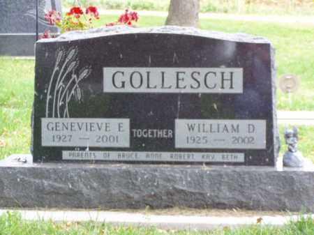 GOLLESCH, WILLIAM D. - Minnehaha County, South Dakota | WILLIAM D. GOLLESCH - South Dakota Gravestone Photos