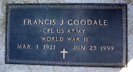 GOODALE, FRANCIS J. (WWII) - Minnehaha County, South Dakota | FRANCIS J. (WWII) GOODALE - South Dakota Gravestone Photos