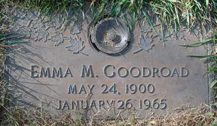 GOODROAD, EMMA M. - Minnehaha County, South Dakota | EMMA M. GOODROAD - South Dakota Gravestone Photos
