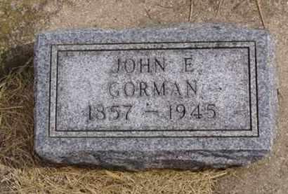 GORMAN, JOHN E. - Minnehaha County, South Dakota | JOHN E. GORMAN - South Dakota Gravestone Photos