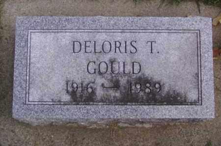 GOULD, DELORIS T. - Minnehaha County, South Dakota   DELORIS T. GOULD - South Dakota Gravestone Photos