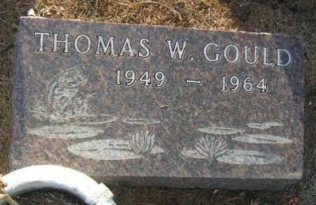 GOULD, THOMAS W. - Minnehaha County, South Dakota   THOMAS W. GOULD - South Dakota Gravestone Photos