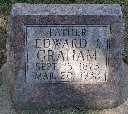 GRAHAM, EDWARD J. - Minnehaha County, South Dakota | EDWARD J. GRAHAM - South Dakota Gravestone Photos