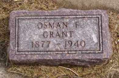 GRANT, OSMAN F. - Minnehaha County, South Dakota | OSMAN F. GRANT - South Dakota Gravestone Photos