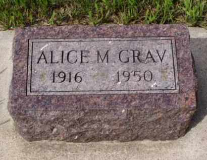 GRAV, ALICE M. - Minnehaha County, South Dakota | ALICE M. GRAV - South Dakota Gravestone Photos