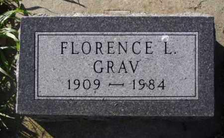 GRAV, FLORENCE L. - Minnehaha County, South Dakota | FLORENCE L. GRAV - South Dakota Gravestone Photos