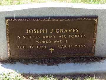 GRAVES, JOSEPH J. - Minnehaha County, South Dakota | JOSEPH J. GRAVES - South Dakota Gravestone Photos