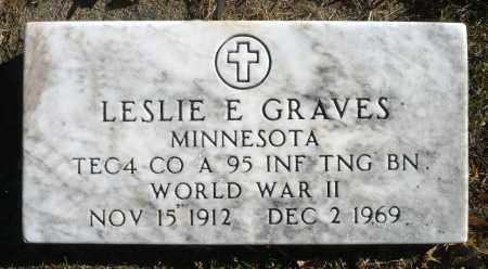 GRAVES, LESLIE E. (WWII) - Minnehaha County, South Dakota | LESLIE E. (WWII) GRAVES - South Dakota Gravestone Photos