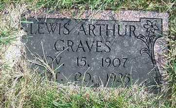 GRAVES, LEWIS ARTHUR - Minnehaha County, South Dakota | LEWIS ARTHUR GRAVES - South Dakota Gravestone Photos