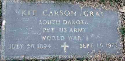 GRAY, KIT CARSON (WWI) - Minnehaha County, South Dakota | KIT CARSON (WWI) GRAY - South Dakota Gravestone Photos