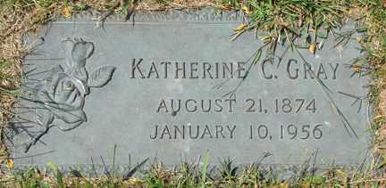 GRAY, KATHERINE C. - Minnehaha County, South Dakota   KATHERINE C. GRAY - South Dakota Gravestone Photos
