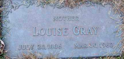GRAY, LOUISE - Minnehaha County, South Dakota | LOUISE GRAY - South Dakota Gravestone Photos