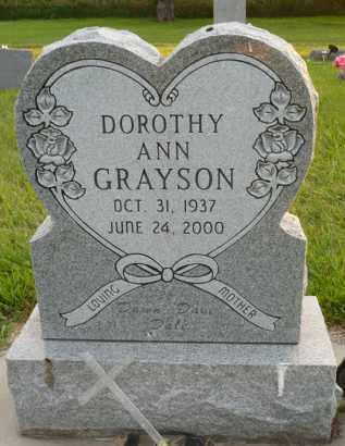GRAYSON, DOROTHY ANN - Minnehaha County, South Dakota   DOROTHY ANN GRAYSON - South Dakota Gravestone Photos