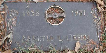 GREEN, ANNETTE L. - Minnehaha County, South Dakota | ANNETTE L. GREEN - South Dakota Gravestone Photos