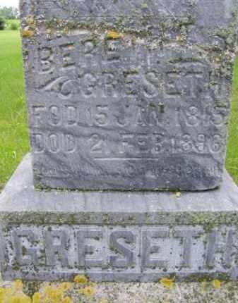 GRESETH, BERETH - Minnehaha County, South Dakota | BERETH GRESETH - South Dakota Gravestone Photos