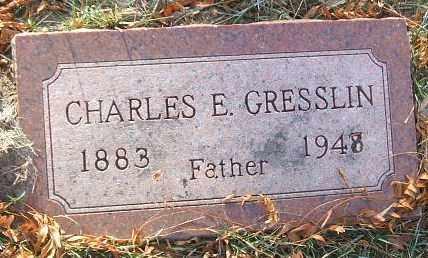 GRESSLIN, CHARLES E. - Minnehaha County, South Dakota | CHARLES E. GRESSLIN - South Dakota Gravestone Photos