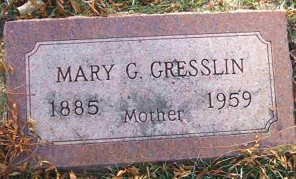 GRESSLIN, MARY G. - Minnehaha County, South Dakota | MARY G. GRESSLIN - South Dakota Gravestone Photos
