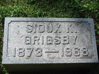 GRIGSBY, SIOUX K. - Minnehaha County, South Dakota | SIOUX K. GRIGSBY - South Dakota Gravestone Photos